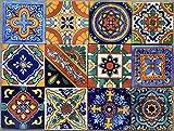 40 Mexican Talavera Tiles Hand Painted 6'x6' Stairs Backsplash 10 Designs