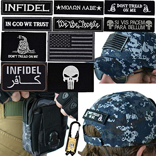 Military Tactical Hat Bundle: 20-in-1 Tool, Operator Cap with Embroidered Morale Patches (Velcro), and Pouch for Airsoft/Paintball - [U.S. Navy - NWU Digital Camo]