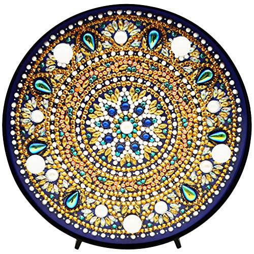 Mobestech Diamant Schilderij Mandala Met Led-Verlichting Diy Bloemvormige Volledige Boor Kristal Diamant Tekening Bedlampje Voor Huisdecoratie Geschenken