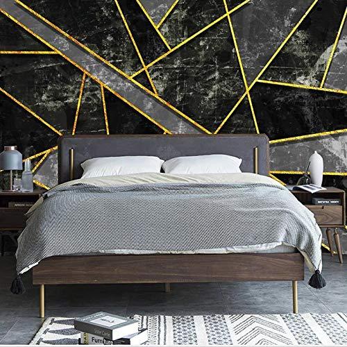 Msrahves papel pintado para pared Oro negro abstracto geométrico moderno. pared vinilos decorativos papel fotografico 3D Fondos de pantalla Fondo Pared Sala de estar Dormitorio TV Sofá Mural Papel tap
