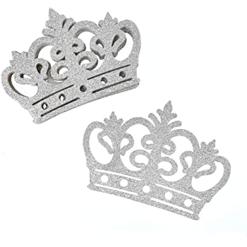 Paper crown cutouts Glitter crown cutout 4 inch 20 pieces CHOOSE GLITTER COLOR