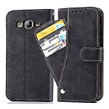 Asuwish Galaxy ON5 2015/G550 Wallet Phone Cases,Luxury Leather Case with Credit Card Holder Slot Stand Kickstand Book Rugged Flip Folio Protective Cover for Samsung GalaxyON5 Women Men Girls Black
