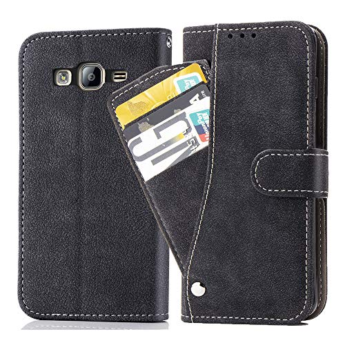 Asuwish Samsung Galaxy ON5 Wallet Case,Leather Phone Cases with Credit Card Holder Slot Kickstand Stand Slim Full Body Flip Folio Protective Cover for Samsung Galaxy On5/G550T Women Men Girls Black