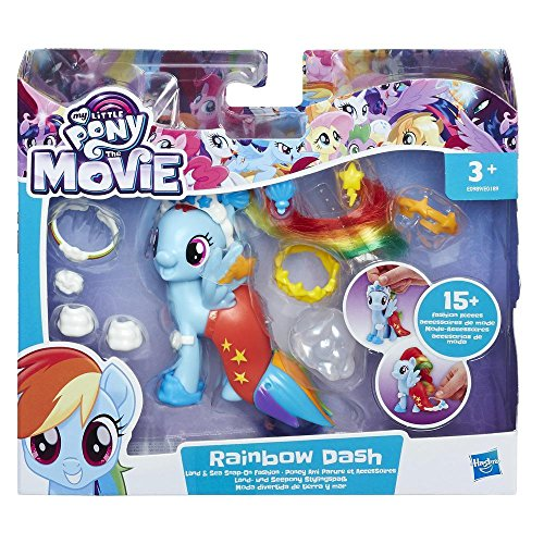 Hasbro My little Pony Movie Land und Seepony Stylingspaß Rainbow Dash