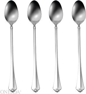 Oneida Juiliard Fine Flatware Set, 18/10 Stainless, Set of 4 Iced Tea Spoons