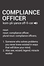 Compliance Officer: Dictionary Definition Blank Lined Journal Notebook