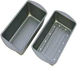 product image for G & S Metal Products Company OvenStuff Non-Stick Meatloaf Baking Pan with Fat-A-Way Insert, 9.25'' X 5.25'', Gray