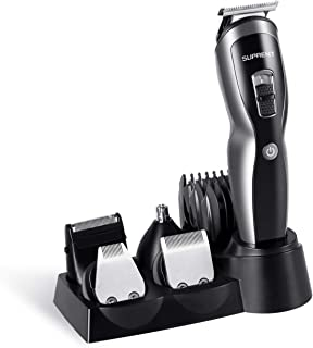 SUPRENT Beard Trimmer Kit, Fast&Quick USB Charge, Li-ion Battery,11-in-1 Beard Trimmer with Sideburns Trimmer, Facial Trimmer, Nose Hair Trimmer, Cordless Beard Trimmer