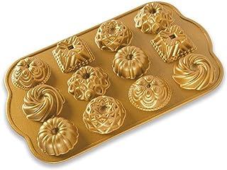 Nordic Ware Bundt Charms Sartén de hierro fundido, Aluminio, dorado