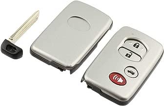 Key Fob Keyless Entry Smart Remote Shell Case & Pad fits Toyota