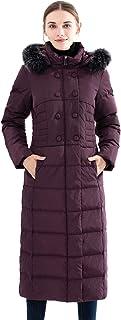 Obosoyo Women`s Hooded Thickened Long Down Jacket Maxi Down Parka Puffer Coat