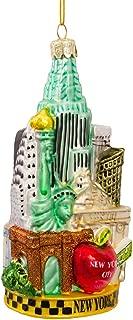 Kurt Adler C4055 New York Glass Cityscape Ornament, 5-1/2-Inch