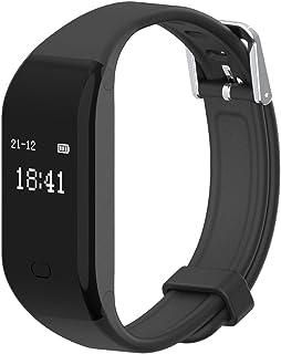 HAISSKY Pulsera Inteligente con Pulsómetro Pulsera Actividad con Contador de Calorias/Monitor de Sueño/Contador de Pasos/Reloj Fitness Tracker Smartwatch para Android y iOS iPhone
