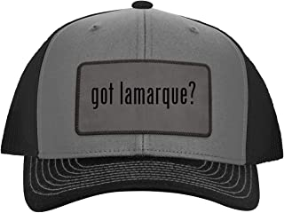 got Lamarque? - Leather Grey Patch Engraved Trucker Hat