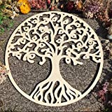 Simurg Round Tree of Life Wooden Wall Art Wall Hanging Decor Art Home Decoration