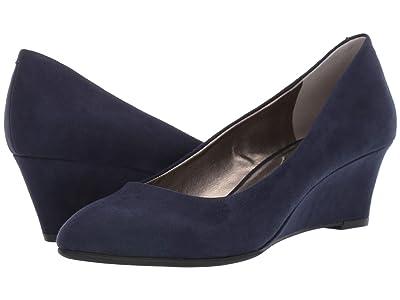 Bandolino Fayola Wedge Heel (Navy Suede) Women