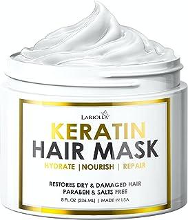 Keratin Hair Mask - Repairs Dry & Damaged Hair - Professional Keratin Hair Treatment with Avocado Oil - Aloe Vera - Vitami...