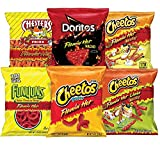 Frito Lay Flamin' Hot Mix, 6 Flavor Single Serve Cheetos, Doritos, Chester's, & Funyuns Variety Pack, (40 Count)