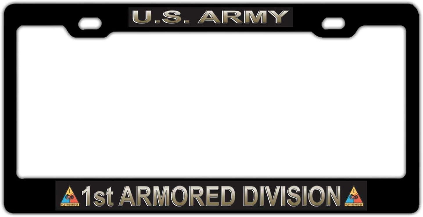 DKISEE U.S. Army 1St Armored Division Latest item C Plate Outlet ☆ Free Shipping License Auto Frame