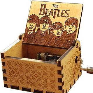 Cuzit The Beatles Let it Be - Caja de música (Madera Tallada Antigua)