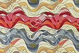 Globaltex 1 Meter Dekostoff Welle extrabreit 280 cm Gobelin