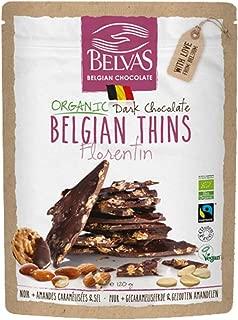 Belvas Belgian Thins Organic Dark Chocolate w/ Caramelized Almonds 4.23 oz - 1Pk