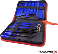TOOLWERX Home Car Automotive Audio Panel Trim Removal 19 pcs Tool Set | Nylon Pry Tool kit for Auto Boat RV Furniture DIY | Handy Compact Storage Carry Bag | Red or Blue Color (BLUE)