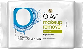 Olay Make-Up Remover Towelettes 25 Count Fragrance Free (2 Pack)