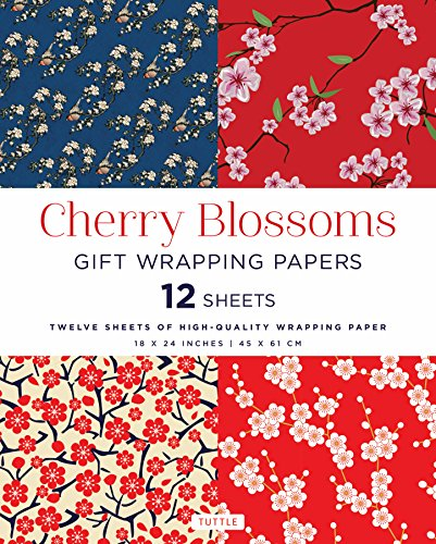 Compare Textbook Prices for Cherry Blossoms Gift Wrapping Papers 12 Sheets: High-Quality 18 x 24 inch 45 x 61 cm Wrapping Paper  ISBN 9780804849579 by Tuttle Publishing