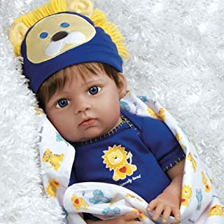 Paradise Galleries Real Life Baby Doll Boy Lions & Tigers & Bears, Oh My! 20 inch Reborn Baby Boy in GentleTouch Vinyl & W...