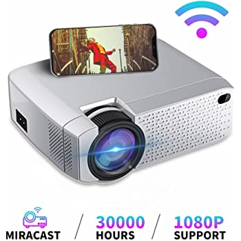 Garsent Mini Proiettore LED,proiettore Video 1080P Portatile con USB//TF//AV//Ingresso HDMI 1500lm Proiettore Home Cinema Speaker Incorporato per iPhone iPad Smartphone TV Xbox PC. YG 300 Giallo