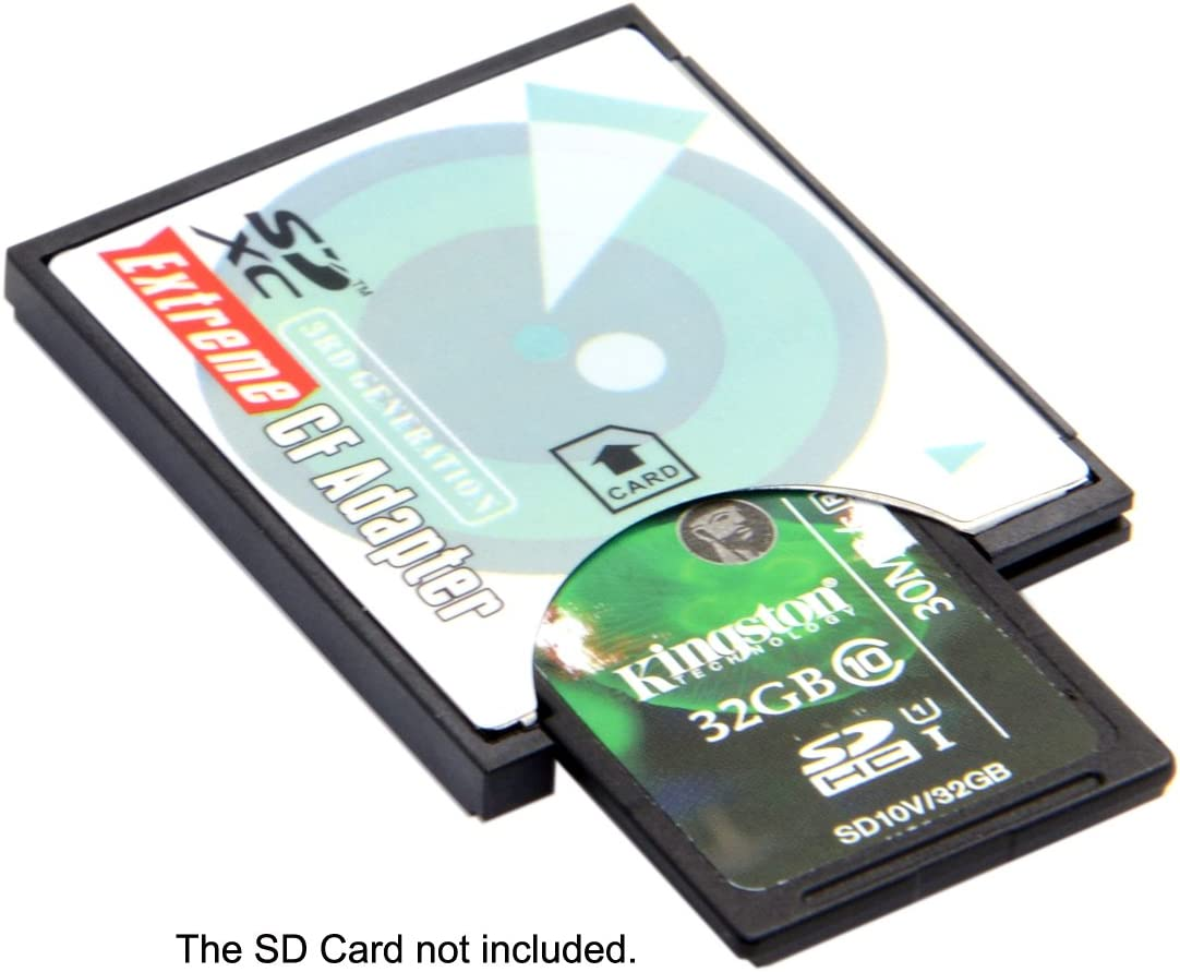 CY SD SDHC SDXC to CF Compact Flash Memory Card Adapter Reader Type I High-Speed Extreme CF to SD Card Reader Adapter