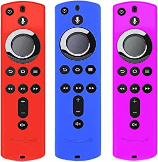 [3個パック] シリコン カバー ケース TV Stick 4K / TV (第3世代) 対応 第2世代リモコン (赤 青 紫)