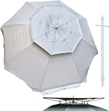Solar Guard 6 ft Dual Canopy Heavy Duty Beach Umbrella Shelter UPF 150+ Ultra Cool - Wind Resistant