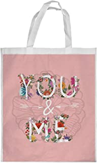 romantic Printed Shopping bag, Medium Size