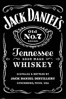 Pyramid International Jack Daniels No 7 Label Tennessee Whiskey Logo Poster 36x24 inch