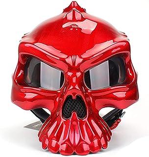 <h2>WYYHAA Motorradhelm, Der Geöffnetes Gesichts-Schädel-Helm Retro Motorrad Biker Casco Motocross Casco Moto Helme Doppelseitige Wearable</h2>