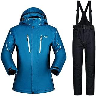 FMOGL Men's Winter Outdoor Thicken Warm Waterproof Windproof Breathable Ski Snowsuit Jacket +Pants Two-Piece Plus Size
