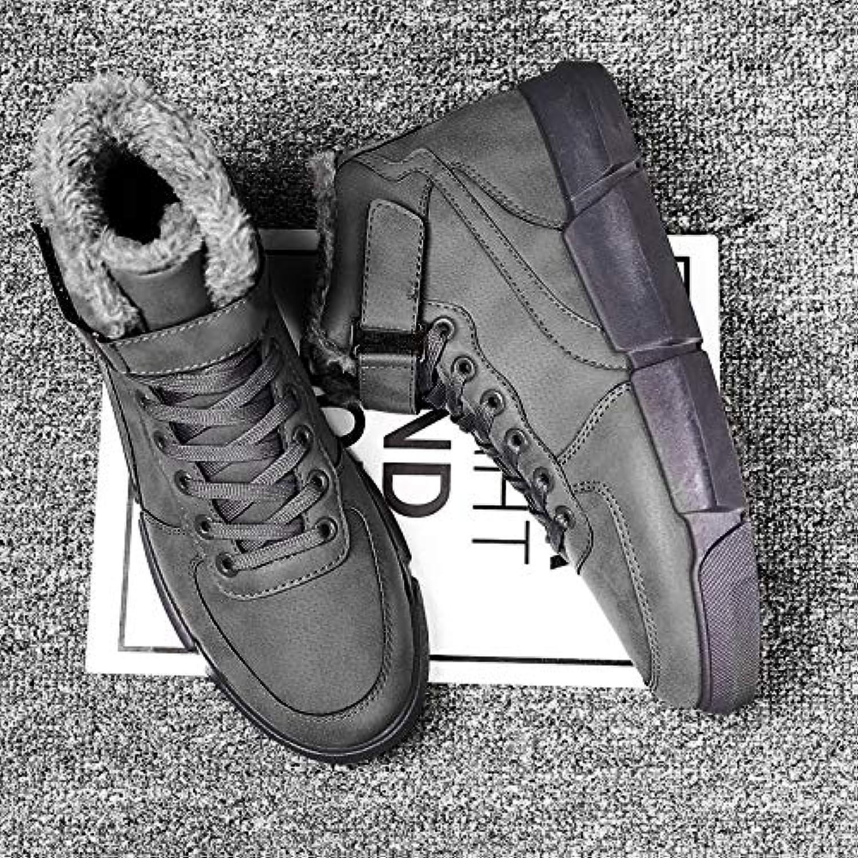 LOVDRAM Boots Men's Men'S shoes Winter Casual shoes Men'S Men'S High To Help Thicken Wild shoes Men'S Fashion shoes shoes Men