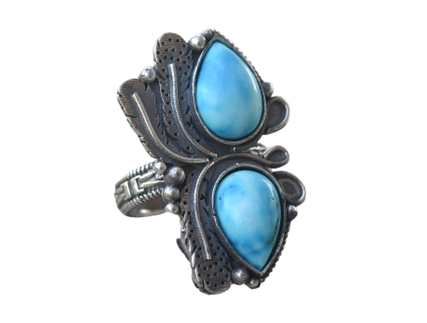 Larimar Ranking TOP3 Ring 92.5 Sterling Silver depot Sto Blue Gift Valentine