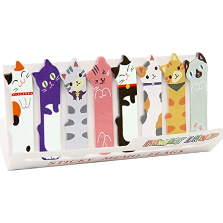 360 Cute Cat Sticky Notes Page Flags Index Tabs for Cat Lovers Kids Office School Gift Idea Medium