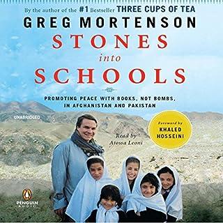 Stones into Schools audiobook cover art