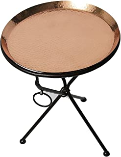 Alchemade Copper Drink Tray Table for Living Room, Kitchen and Patio