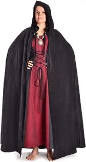 Oksea Damen Mittelalter Kleid Damen Langarm Mittelalter Kleid Hexenkost/üm Umh/änge Vampir Umh/änge V Ausschnitt Gothic Viktorianischen Prinzessin Renaissance Bodenlanges Kapuzenkleid