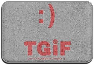 TGIF Thank God It is Friday Cool Door Mat Outdoor Doormats Indoor Doormats Doormat Hello 15.7 X23.6 inch