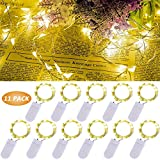 LED Lichterkette, 11 Stück 2M 20LED Micro Lichterkette Mini Drahtlichterkette Batterie betrieb,...
