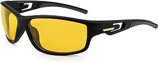 JIM HALO Polarized Sports Sunglasses Wrap Around Driving Fishing Glasses for Men