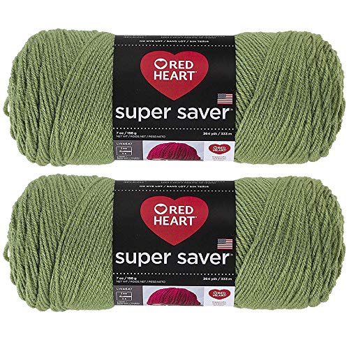 Bulk Buy: Red Heart Super Saver (2-Pack) (Tea Leaf, 7 oz Each Skein)