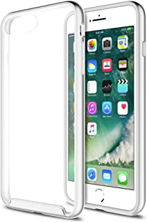 XDesign iPhone 7 Plus Case [Inception Series] Protective Case For iPhone 7 Plus 5.5 inch (2016)[Scratch Resistant] integrated Shock-Absorbing Bumper Cover Hard Clear Back - [Silver/Clear]