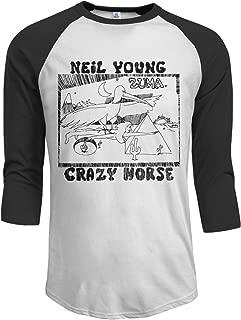 Men's Neil Young Zuma 3/4 Sleeve Raglan Basebal Shirts Tee